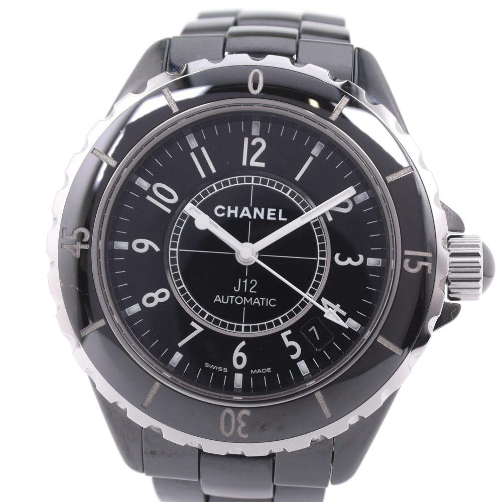 【CHANEL】シャネル J12 38mm H0685 セラミック ブラック 自動巻き メンズ 黒文字盤 腕時計【中古】A-ランク