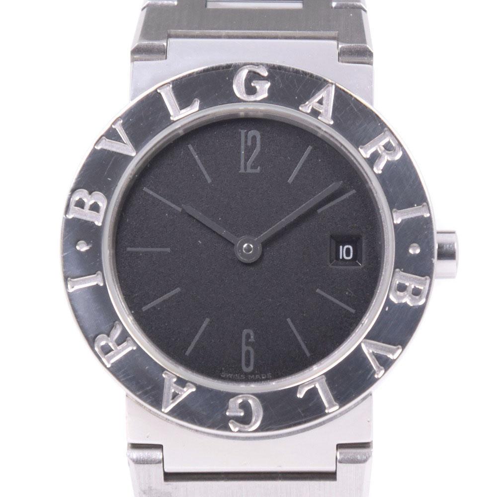 【BVLGARI】ブルガリ ブルガリブルガリ BB26SSD ステンレススチール シルバー クオーツ レディース 黒文字盤 腕時計【中古】Aランク