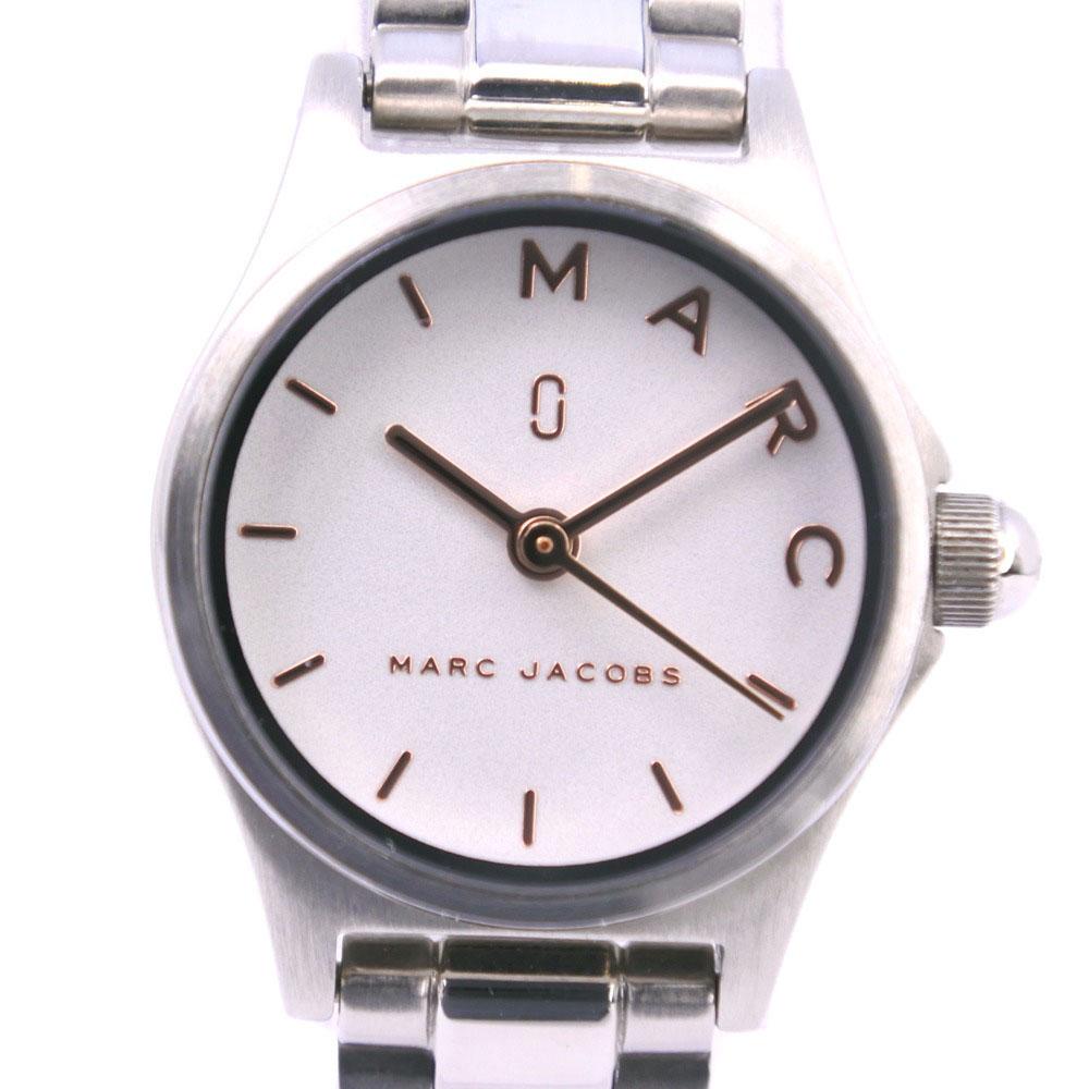 【MARC BY MARC JACOBS】マークバイマークジェイコブス ブレスレット付き MJ3586 ステンレススチール シルバー クオーツ レディース 白文字盤 腕時計【中古】