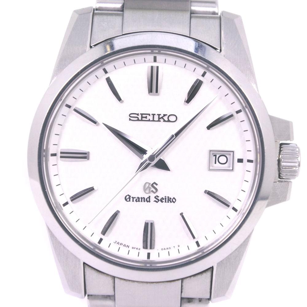 【SEIKO】セイコー グランドセイコー 9F62-0AA1 SBGX057 ステンレススチール シルバー クオーツ メンズ 白文字盤 腕時計【中古】