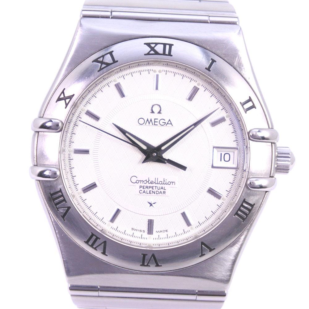 【OMEGA】オメガ コンステレーション 1552.30 ステンレススチール クオーツ メンズ ホワイト文字盤 腕時計【中古】A-ランク