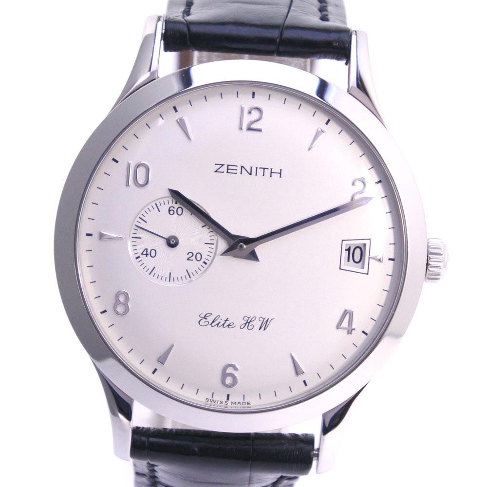 【ZENITH】ゼニス クラスエリートHW 01.1125.650/01 ステンレススチール 手巻き メンズ シルバー文字盤 腕時計【中古】Aランク