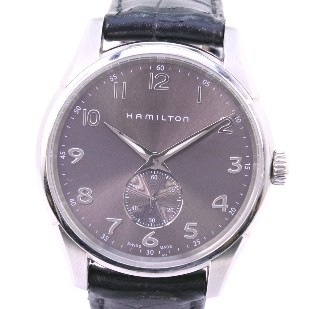 【HAMILTON】ハミルトン ジャズマスター スモセコ H384110 ステンレススチール クオーツ メンズ グレー文字盤 腕時計【中古】