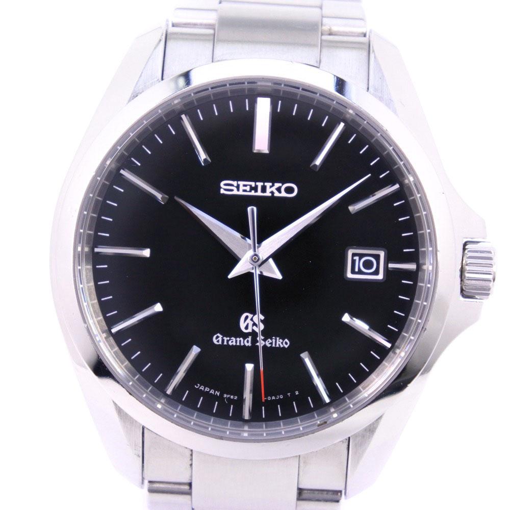 【SEIKO】セイコー グランドセイコー 9F32-0AG0 SBGX083 ステンレススチール シルバー クオーツ メンズ 黒文字盤 腕時計【中古】A-ランク