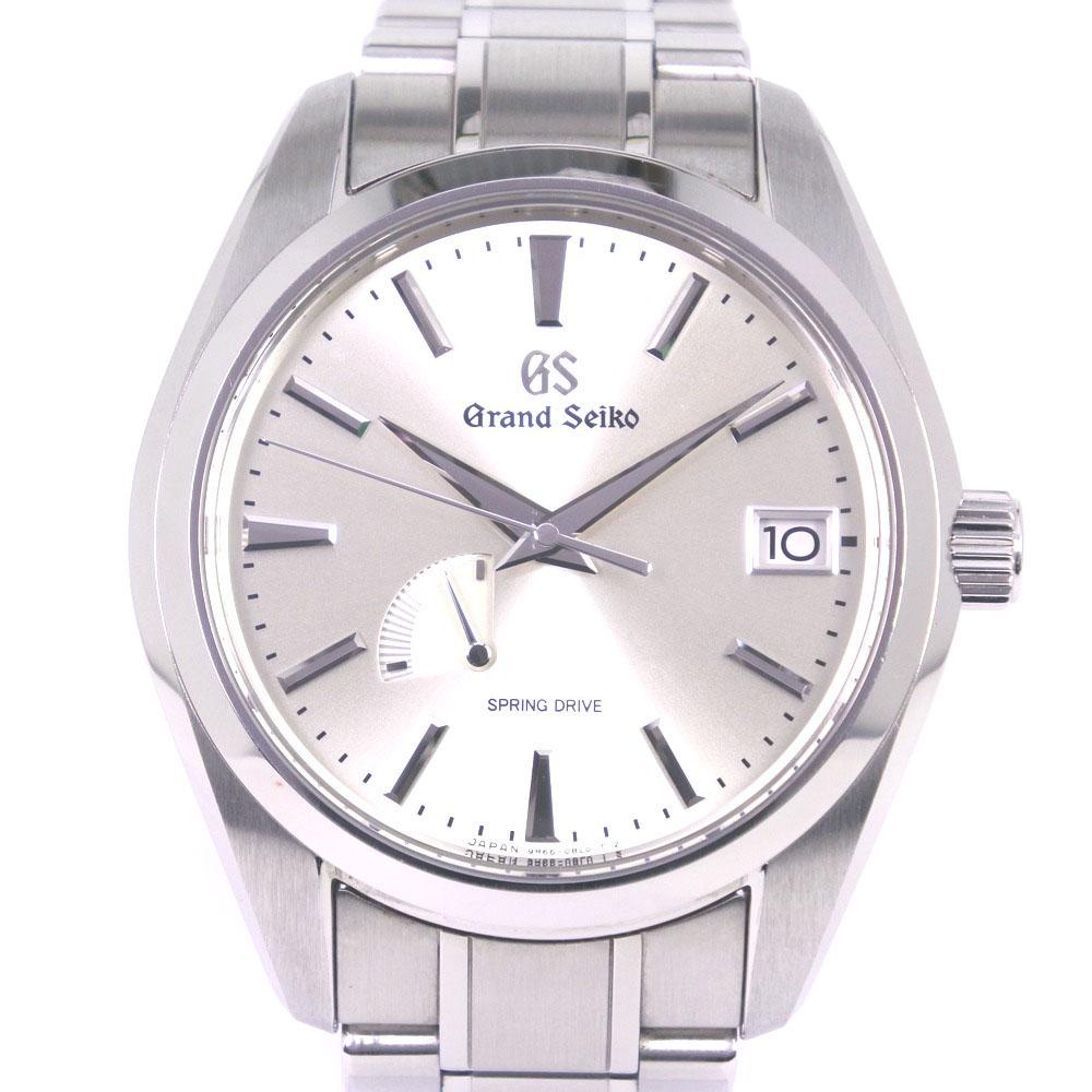 【SEIKO】セイコー グランドセイコー スプリングドライブ 9R65-0AA0 SBGA201 ステンレススチール 自動巻き メンズ シルバー文字盤 腕時計【中古】A+ランク