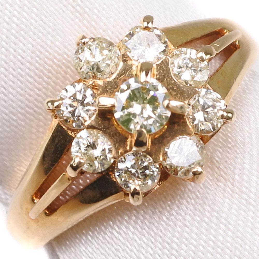 K18ゴールド×ダイヤモンド 11号 D 0.55刻印 レディース リング・指輪【中古】SAランク