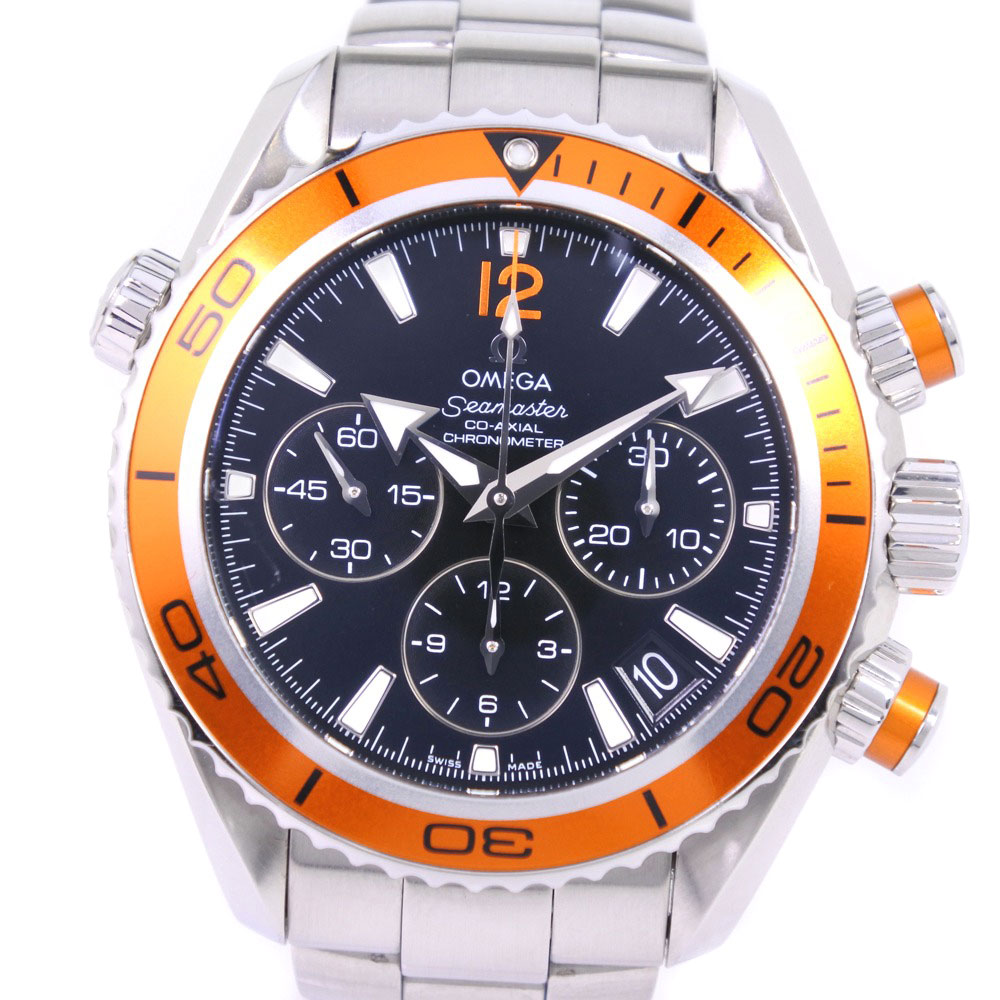 【OMEGA】オメガ シーマスター 222.30.38.50.01.002 ステンレススチール オレンジ 自動巻き ボーイズ オレンジ文字盤 腕時計【中古】A+ランク