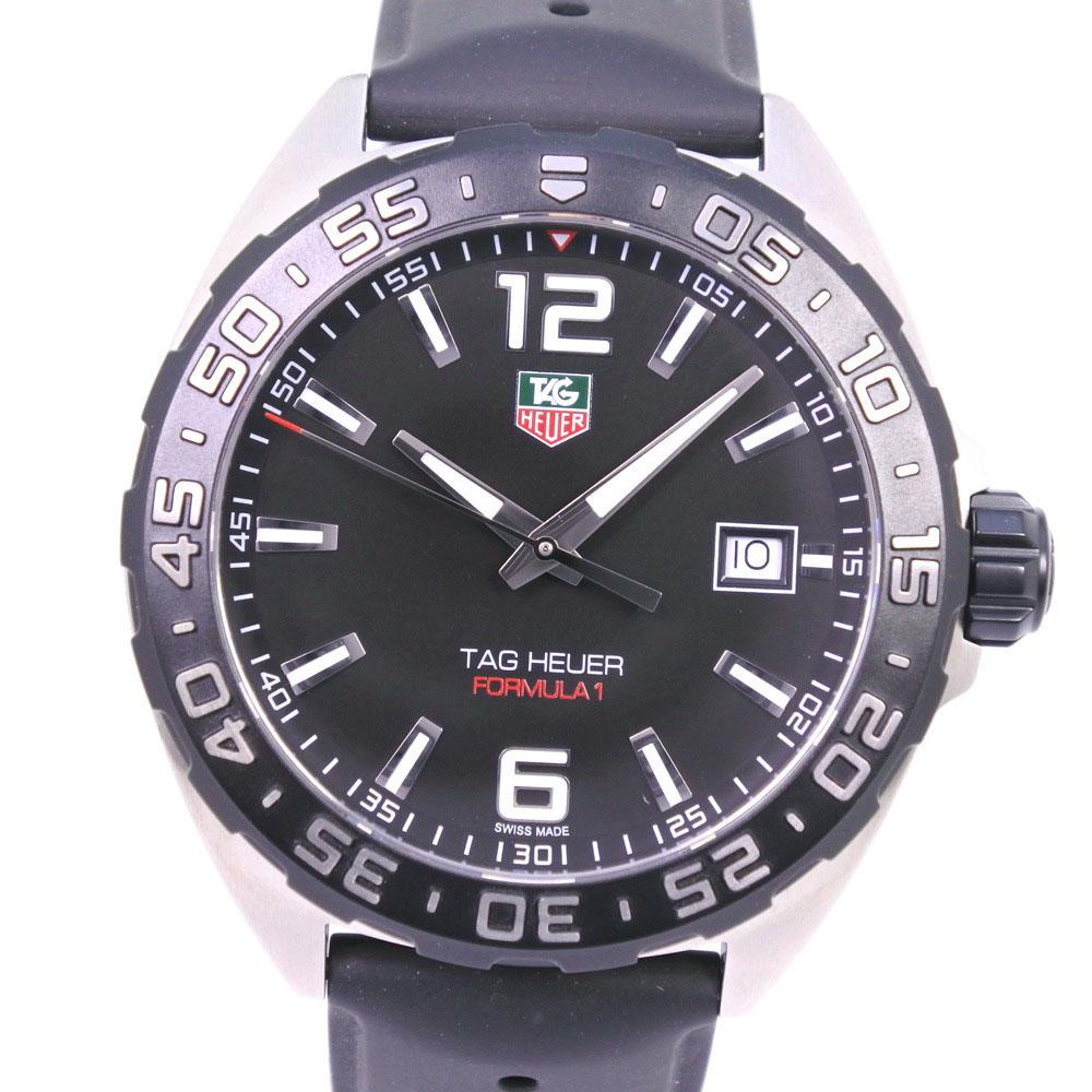 【TAG HEUER】タグホイヤー フォーミュラ1 WAZ1110.FT8023 ステンレススチール×ラバー クオーツ メンズ 黒文字盤 腕時計【中古】SAランク