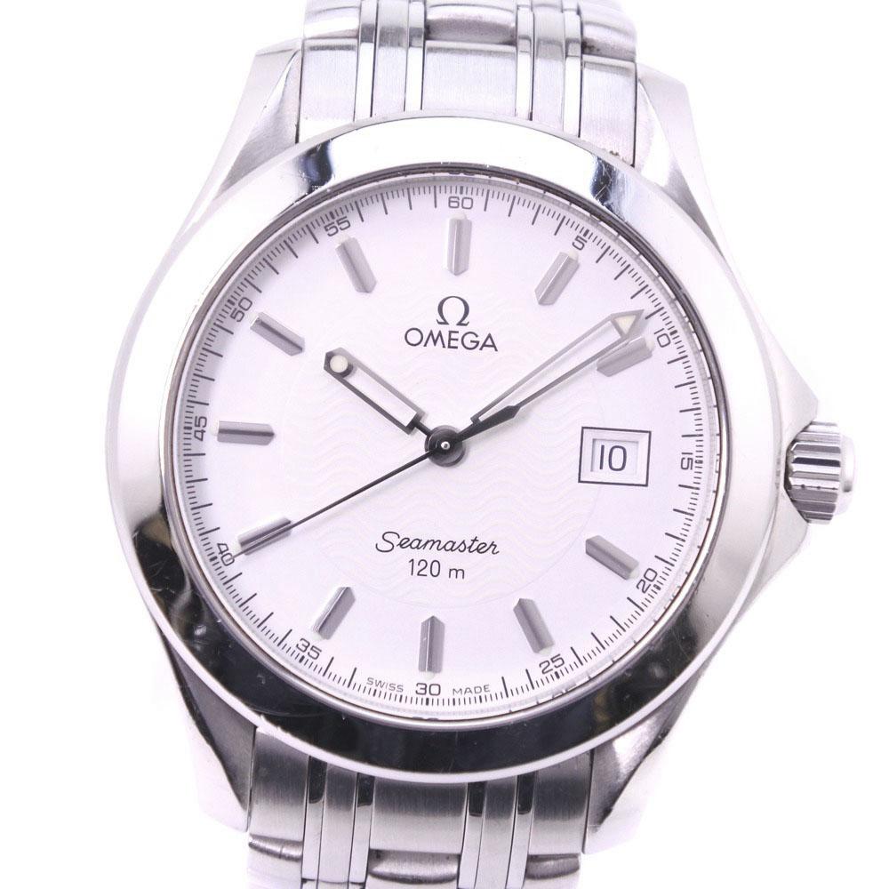 【OMEGA】オメガ シーマスター120M 2511.12 ステンレススチール シルバー クオーツ メンズ 白文字盤 腕時計【中古】