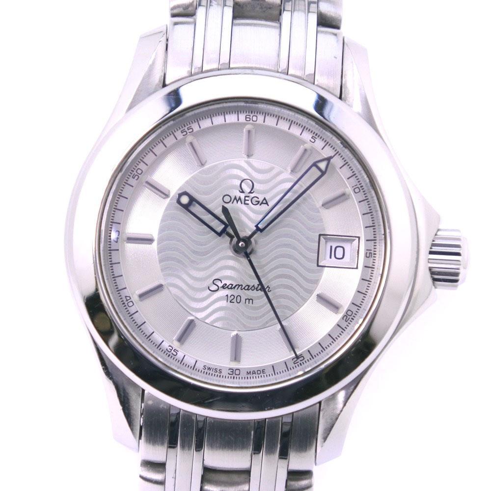【OMEGA】オメガ シーマスター120M 2581.31 ステンレススチール クオーツ レディース シルバー文字盤 腕時計【中古】A-ランク
