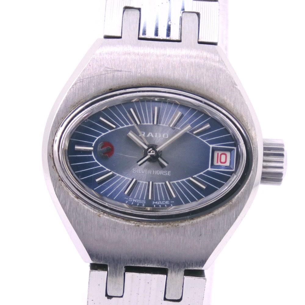 【RADO】ラドー シルバーホース 7070 55830354 ステンレススチール シルバー 自動巻き ユニセックス シルバー文字盤 腕時計【中古】
