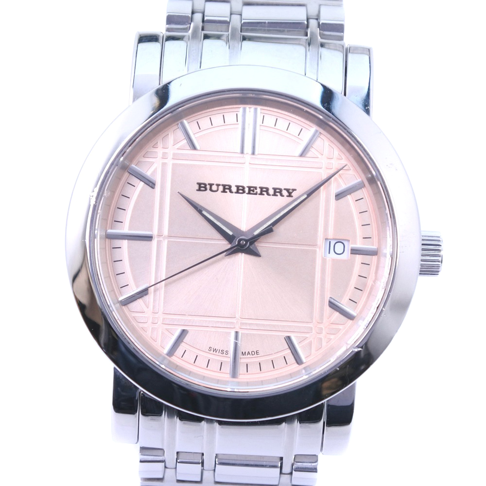 【BURBERRY】バーバリー BU1352 ステンレススチール クオーツ メンズ シャンパンゴールド文字盤 腕時計【中古】