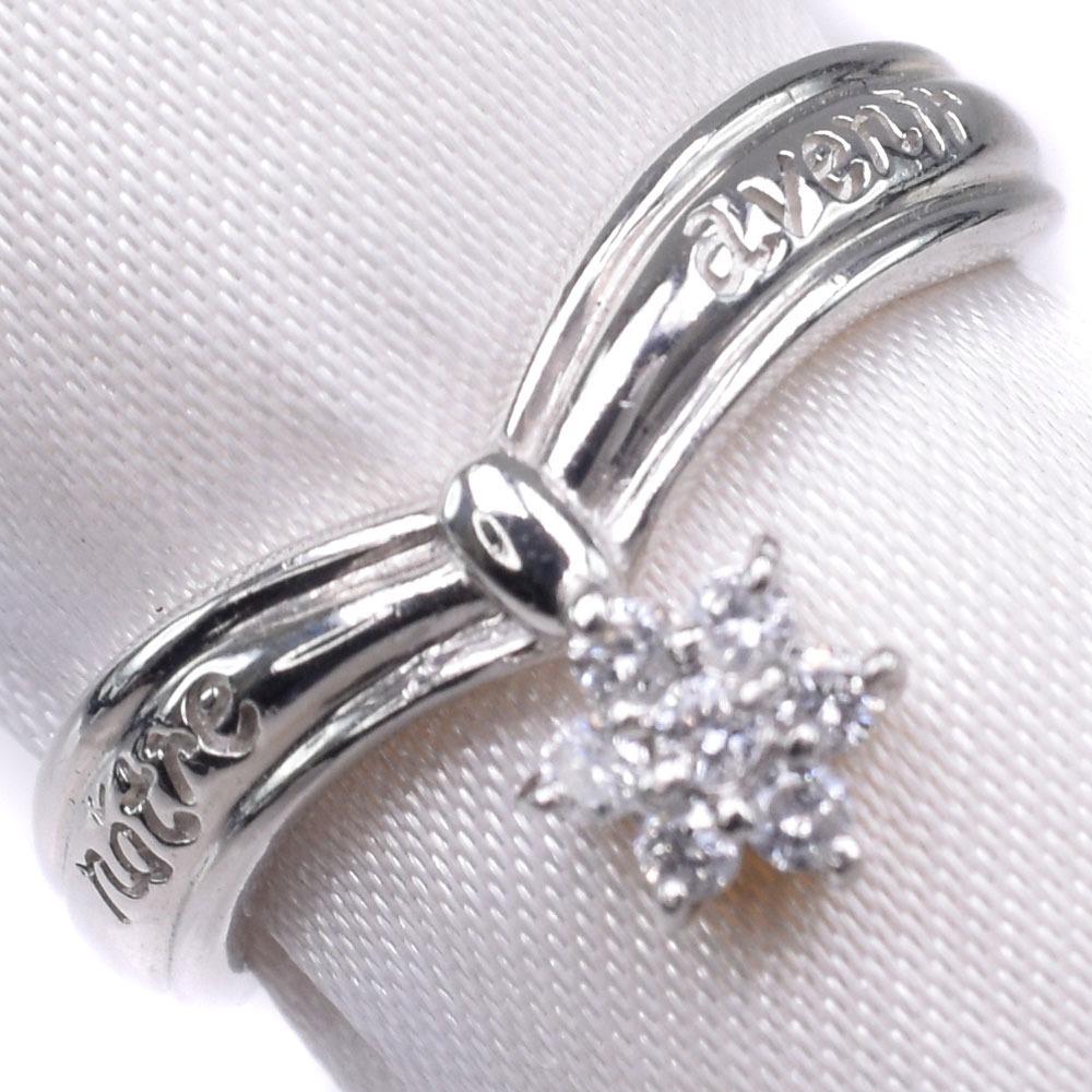 Pt1000プラチナ×ダイヤモンド 11号 D 0.10刻印 レディース リング・指輪【中古】SAランク