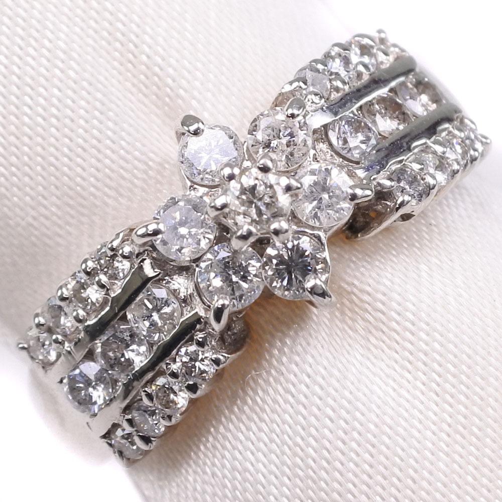 ダイヤモンド Pt900プラチナ 12号 0.70刻印 レディース リング・指輪【中古】SAランク