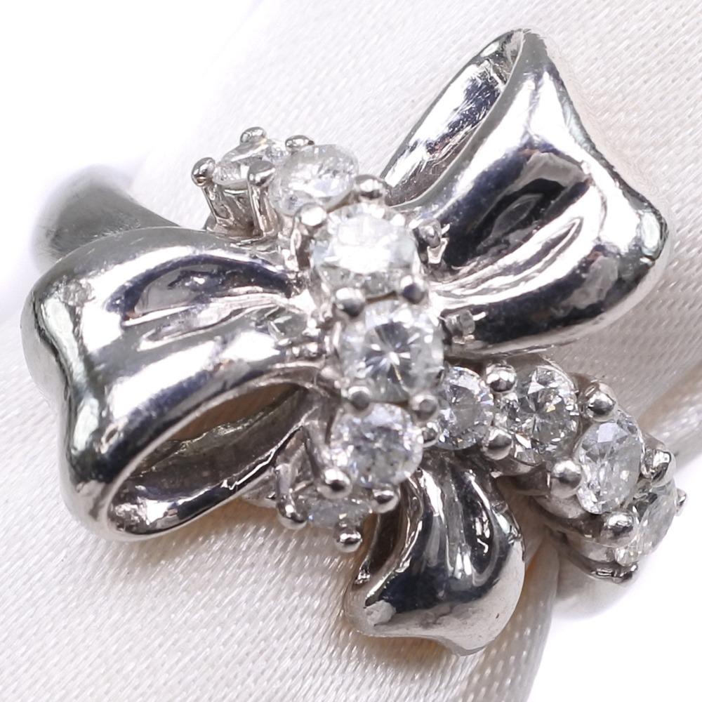 ダイヤモンド Pt900プラチナ 9号 0.50刻印 レディース リング・指輪【中古】SAランク