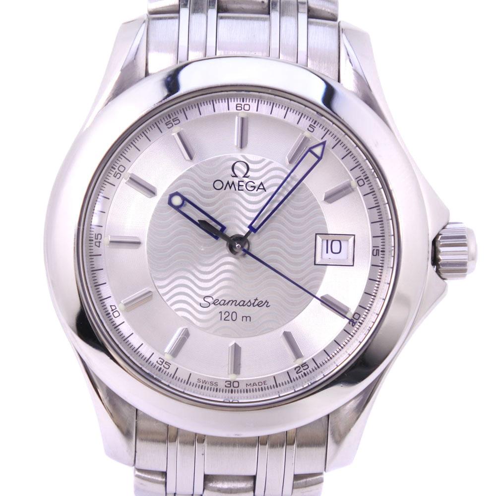 【OMEGA】オメガ シーマスター120M 2511.31 ステンレススチール クオーツ メンズ シルバー文字盤 腕時計【中古】A-ランク