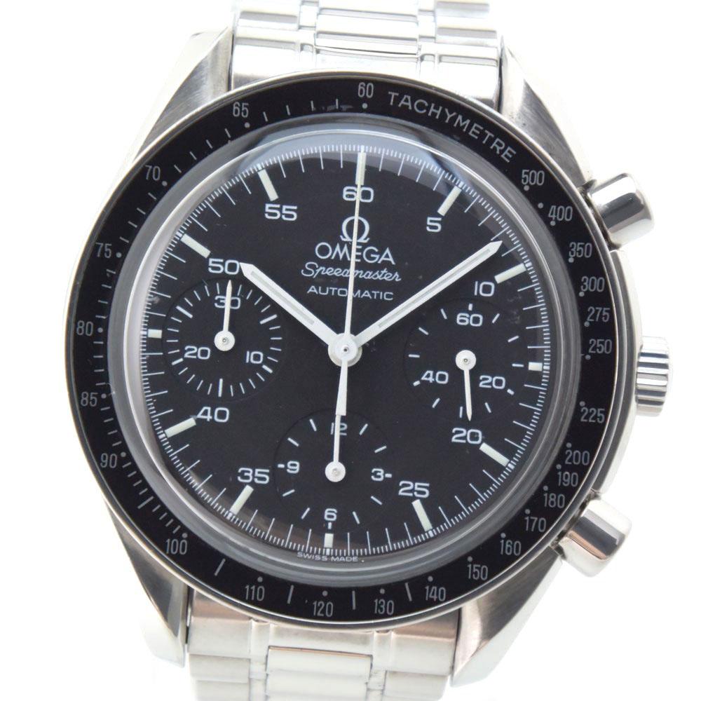 【OMEGA】オメガ スピードマスター 3510.50 ステンレススチール シルバー 自動巻き メンズ 黒文字盤 腕時計【中古】
