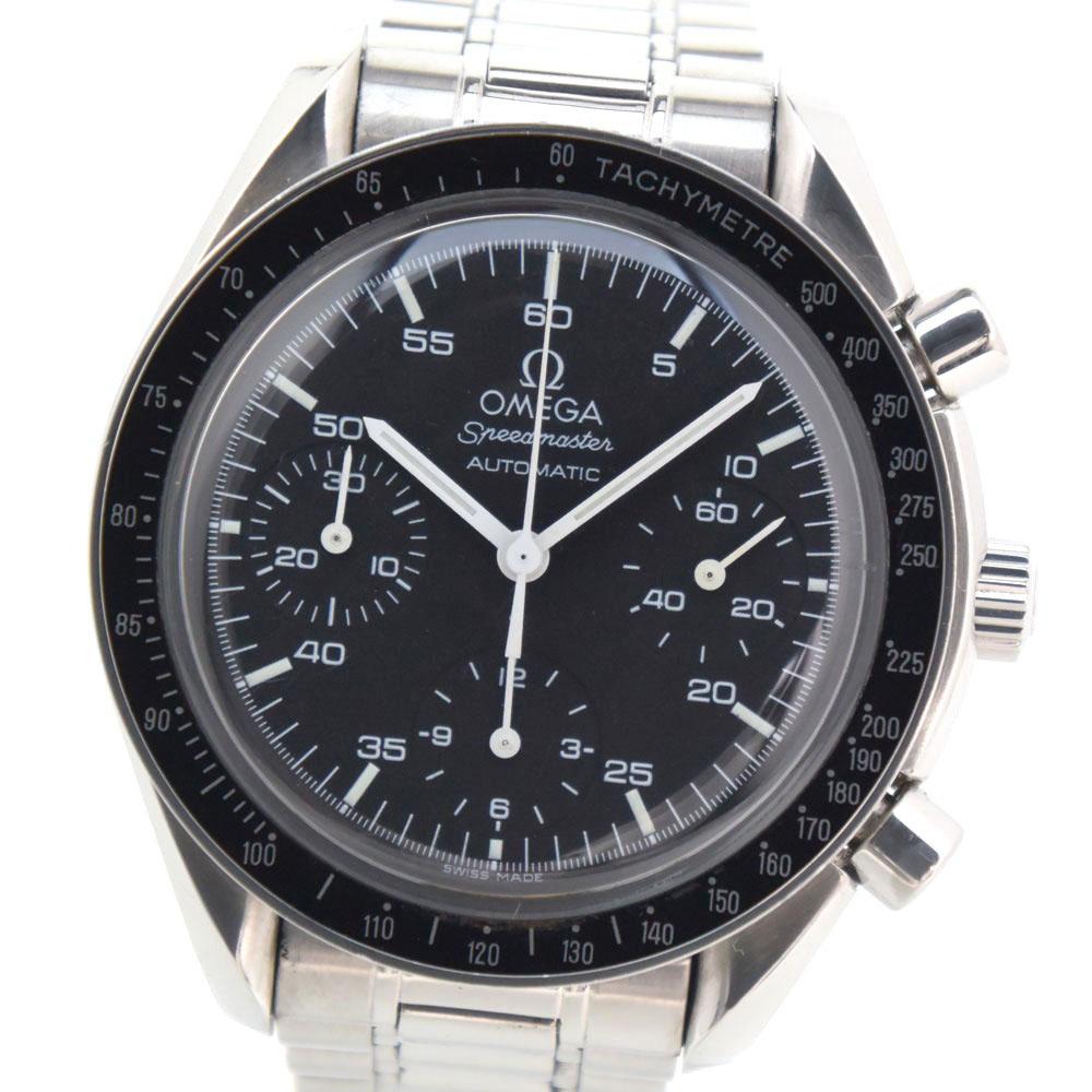 【OMEGA】オメガ スピードマスター 3510.50 ステンレススチール シルバー 自動巻き メンズ 黒文字盤 腕時計【中古】A-ランク