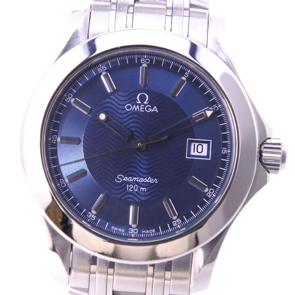 【OMEGA】オメガ シーマスター120M 2511.81 ステンレススチール ブルー クオーツ メンズ 青文字盤 腕時計【中古】A-ランク