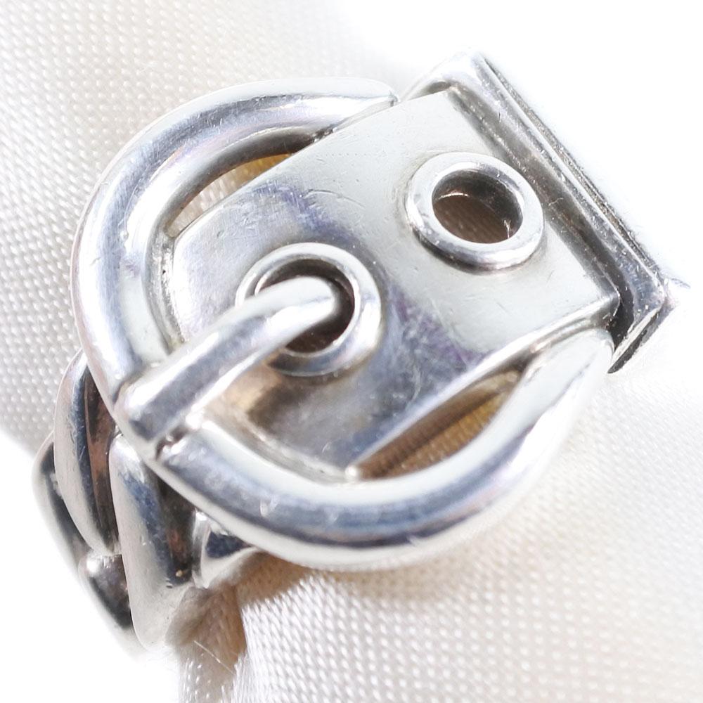 【HERMES】エルメス サンチュール ベルト 11号 シルバー925 11号 レディース リング・指輪【中古】