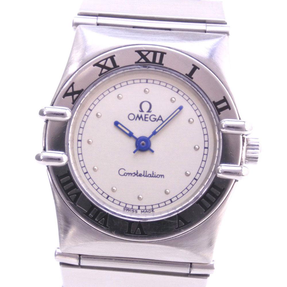 【OMEGA】オメガ コンステレーション ミニ ステンレススチール クオーツ レディース シルバー文字盤 腕時計【中古】