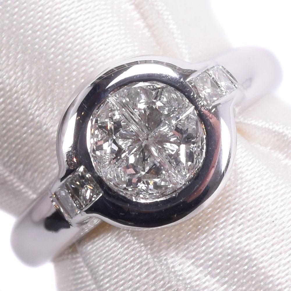 クローバー K18ホワイトゴールド×ダイヤモンド 10.5号 0.73刻印 レディース リング・指輪【中古】SAランク