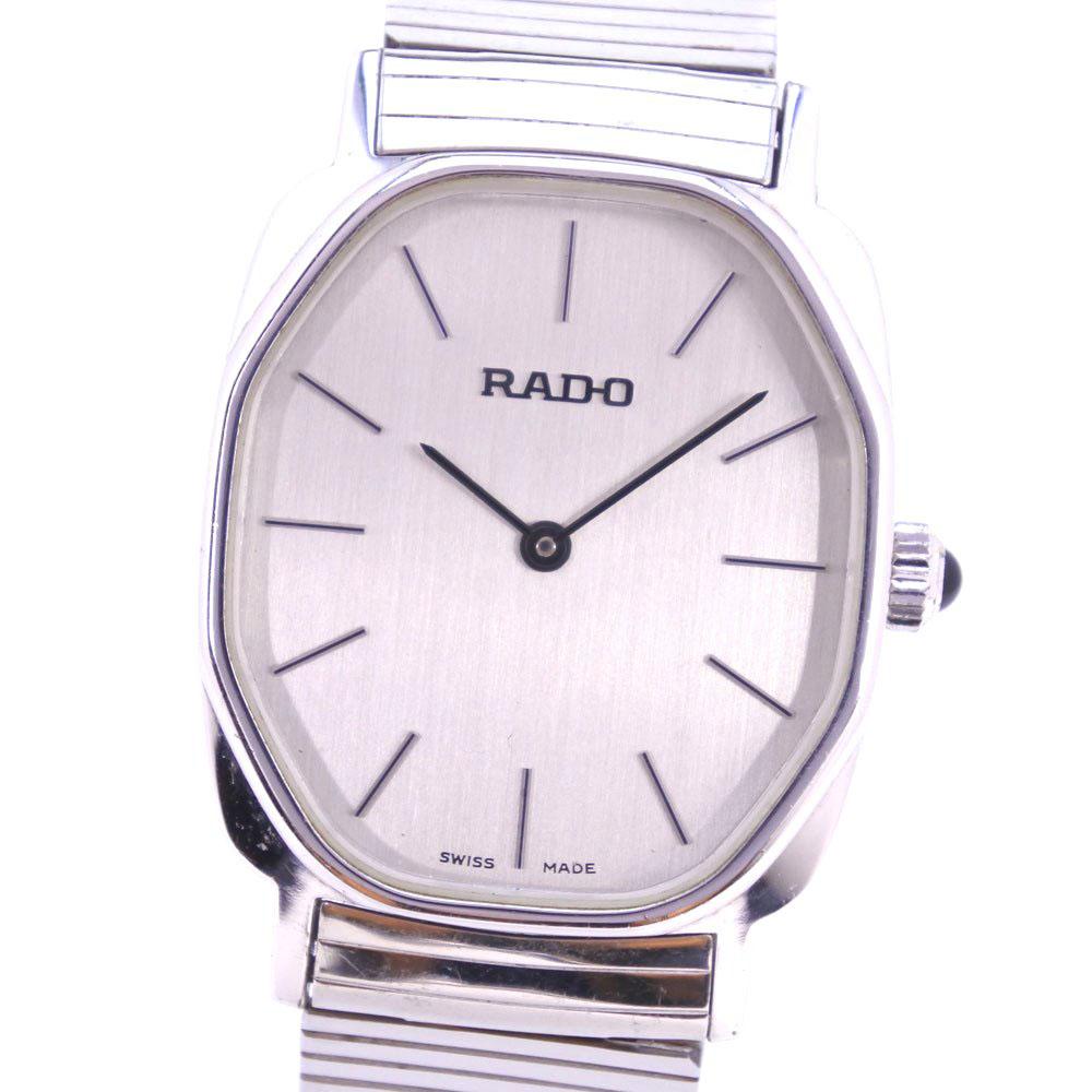 全品送料無料 腕時計 3ヵ月保証 スーパーセール10%OFF対象 RADO ラドー 396.7966.2 ステンレススチール 手巻き レディース 買い取り シルバー文字盤 激安 激安特価 送料無料 中古 シルバー