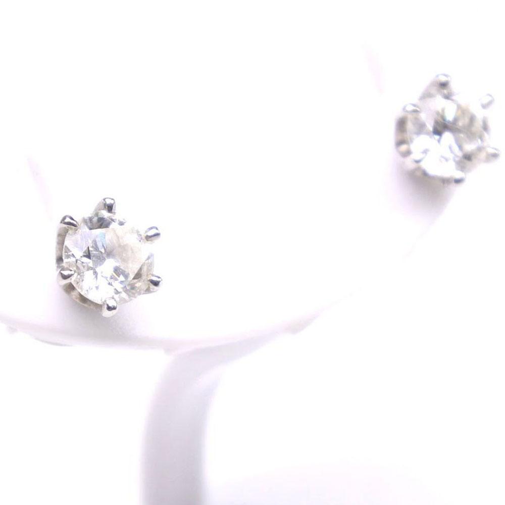 TAKANO jewelry Pt900プラチナ×ダイヤモンド 0.326/0.321刻印 レディース ピアス【中古】A+ランク