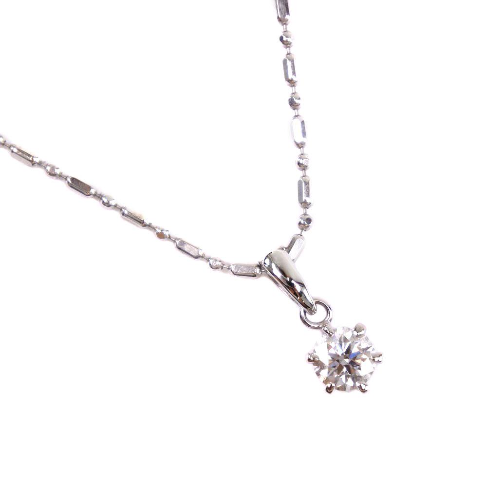 ダイヤモンド Pt900プラチナ×Pt850プラチナ レディース ネックレス【中古】SAランク