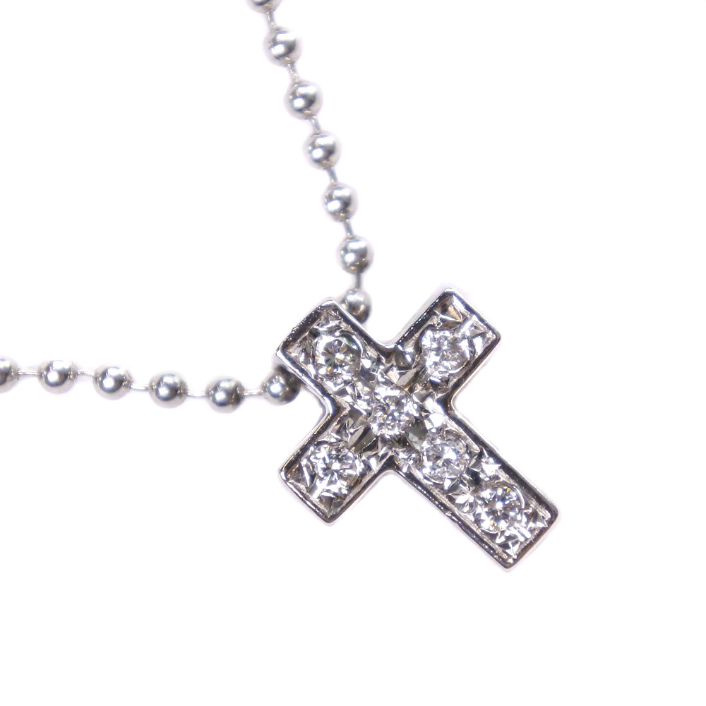 【STAR JEWELRY】スタージュエリー クロス 十字架 Pt900プラチナ×ダイヤモンド レディース ペンダントトップ【中古】SAランク