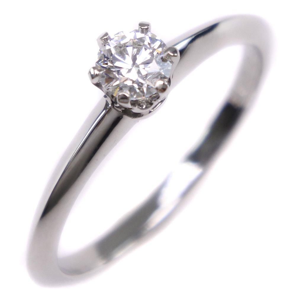 【TIFFANY&Co.】ティファニー Pt950プラチナ×ダイヤモンド 9.5号 D0.22刻印 レディース リング・指輪【中古】SAランク