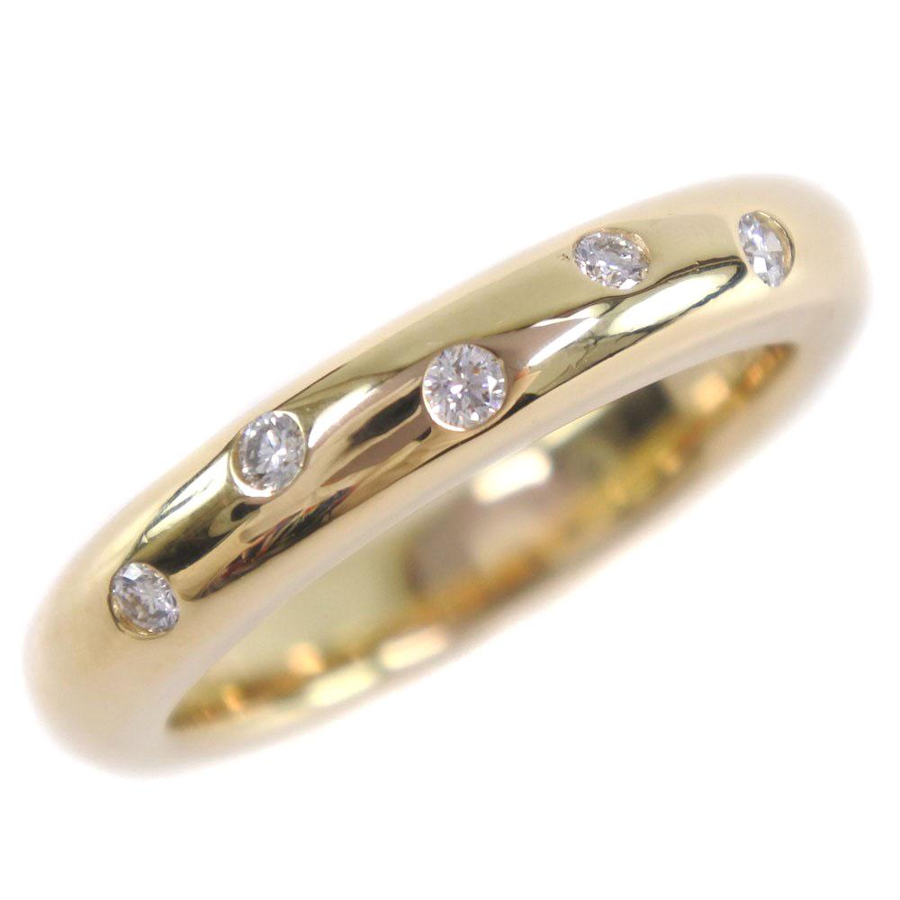 【TASAKI】タサキ K18イエローゴールド×ダイヤモンド 5.5号 0.06刻印 レディース リング・指輪【中古】SAランク