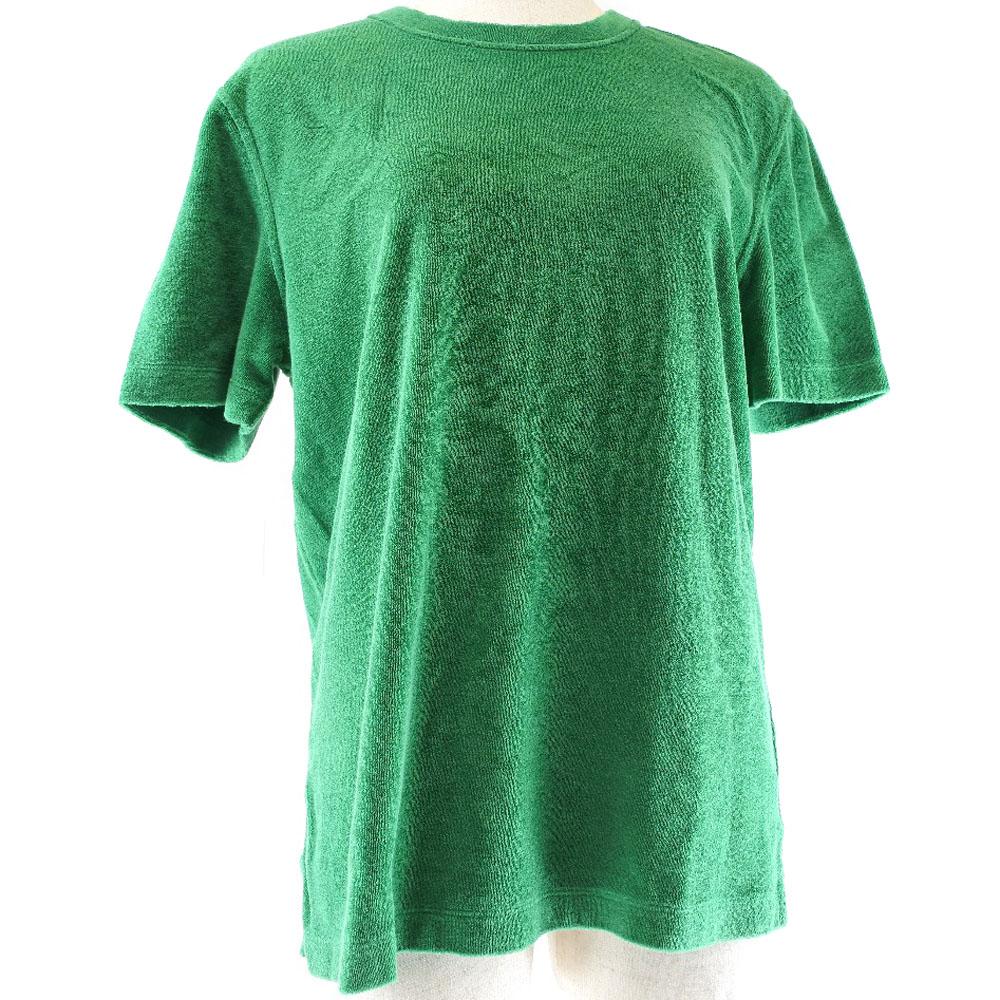 【HERMES】エルメス パイル×コットン 緑 メンズ 半袖Tシャツ【中古】