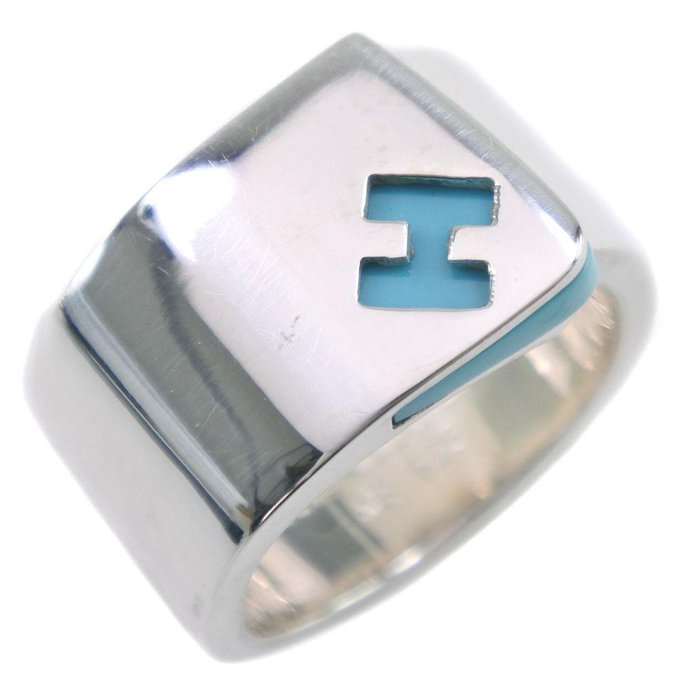 【HERMES】エルメス キャンディ 10号 シルバー925 10号 ライトブルー 53刻印 レディース リング・指輪【中古】