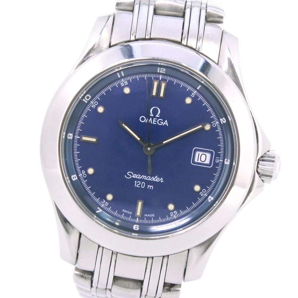 meet fe6ca 20691 【OMEGA】オメガ シーマスター120M 2511.80 ステンレススチール クオーツ メンズ 青文字盤  腕時計【中古】|質にしきの【ブランド販売・買取】
