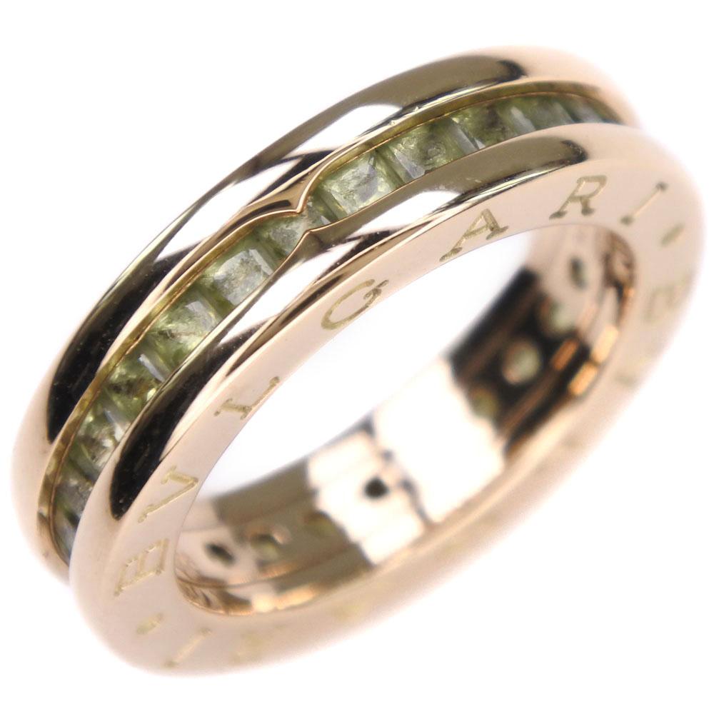 【BVLGARI】ブルガリ ビーゼロワン Bzero1 K18イエローゴールド×ペリドット 8号 48刻印 レディース リング・指輪【中古】Aランク