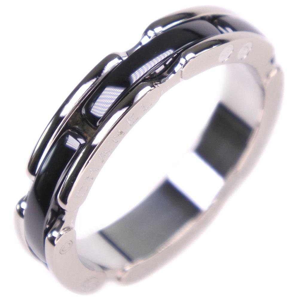 【CHANEL】シャネル ウルトラリング #51 J3092 K18ホワイトゴールド×セラミック 10.5号 ブラック レディース リング・指輪【中古】SAランク