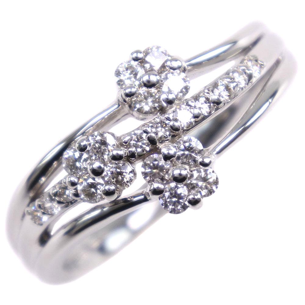 Pt900プラチナ×ダイヤモンド 11号 D0.27刻印 レディース リング・指輪【中古】SAランク
