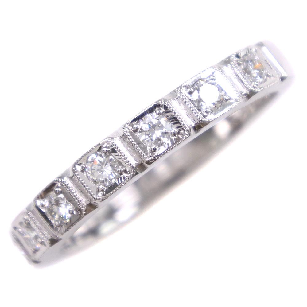 Pt900プラチナ×ダイヤモンド 12号 D0.22刻印 レディース リング・指輪【中古】SAランク
