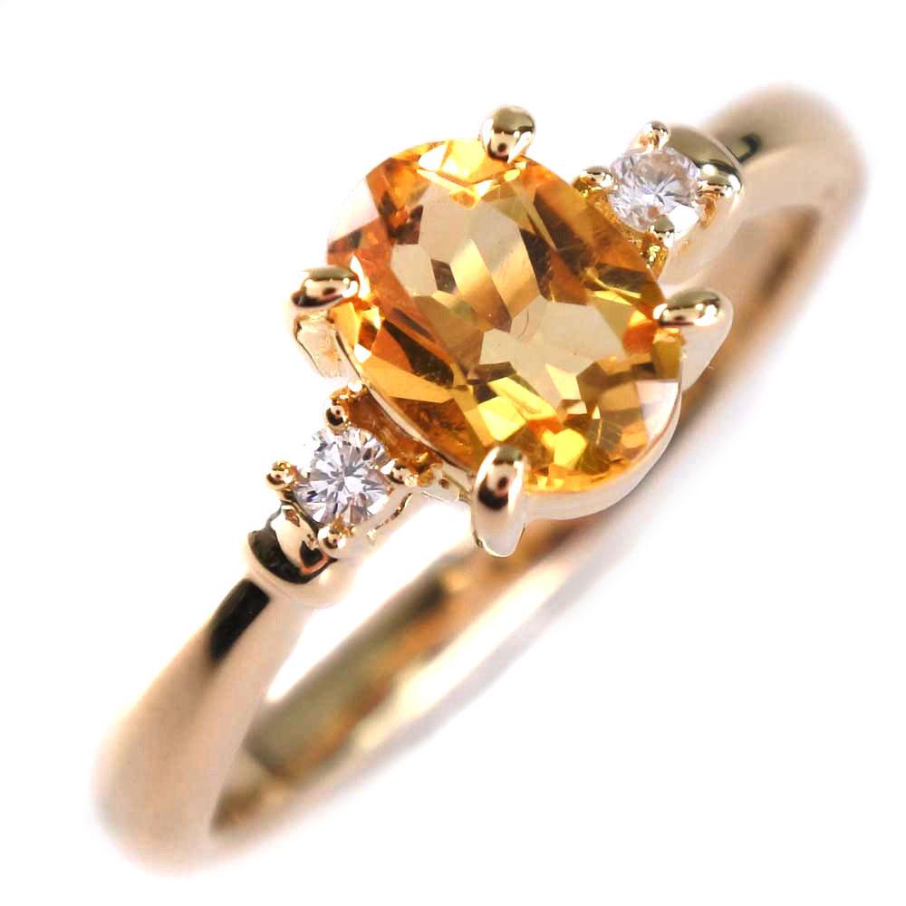 【TASAKI】タサキ K18イエローゴールド×ダイヤモンド×イエローサファイア 10号 0.04刻印 レディース リング・指輪【中古】SAランク