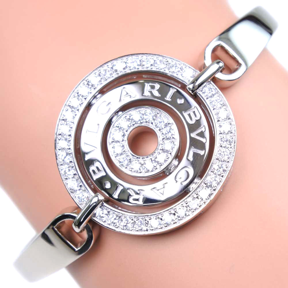 【BVLGARI】ブルガリ アストラーレ K18ホワイトゴールド×ダイヤモンド レディース ブレスレット【中古】SAランク