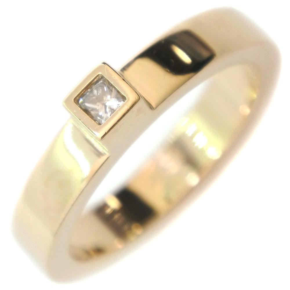 【GUCCI】グッチ 1Pダイヤ K18イエローゴールド×ダイヤモンド 13号 レディース リング・指輪【中古】A+ランク
