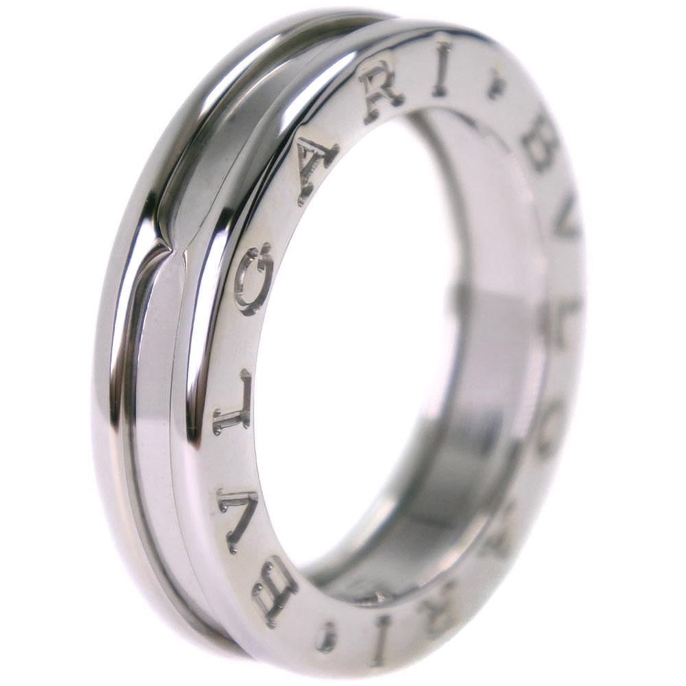 【BVLGARI】ブルガリ Bzero1 ビーゼロワン K18ホワイトゴールド 9号 レディース リング・指輪【中古】SAランク