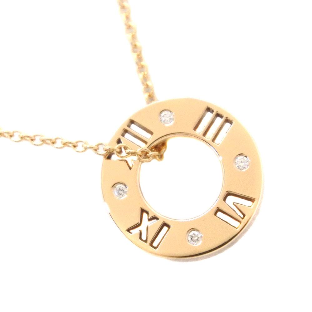 【TIFFANY&Co.】ティファニー アトラス K18イエローゴールド×ダイヤモンド レディース ネックレス【中古】SAランク