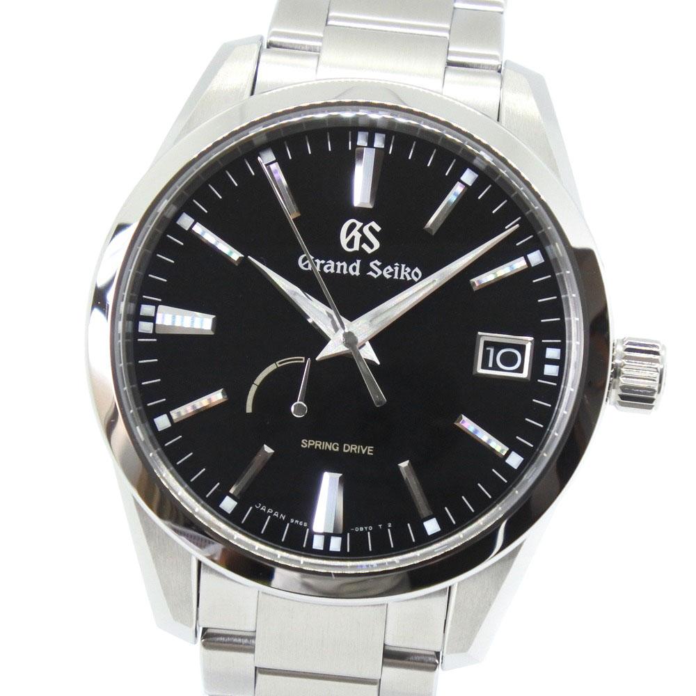 【60%OFF】 【SEIKO】セイコー グランドセイコー スプリングドライブ 9R65-0BM0 SBCA301 ステンレススチール 自動巻き レディース 黒文字盤 腕時計【】A+ランク, ほくべい 67d29f9e