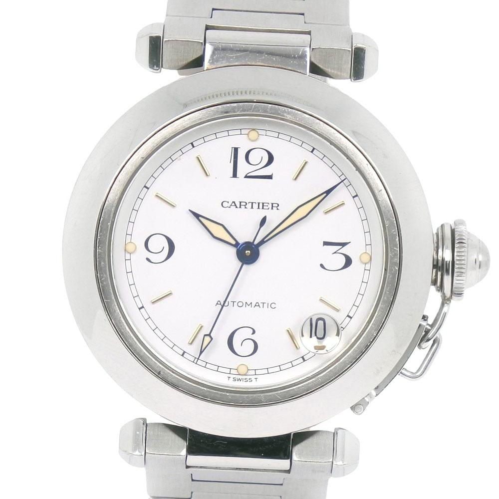 人気の 【CARTIER】カルティエ パシャC 2324 ステンレススチール 自動巻き ユニセックス 白文字盤 腕時計【】, ホスピマート c29ecfe2