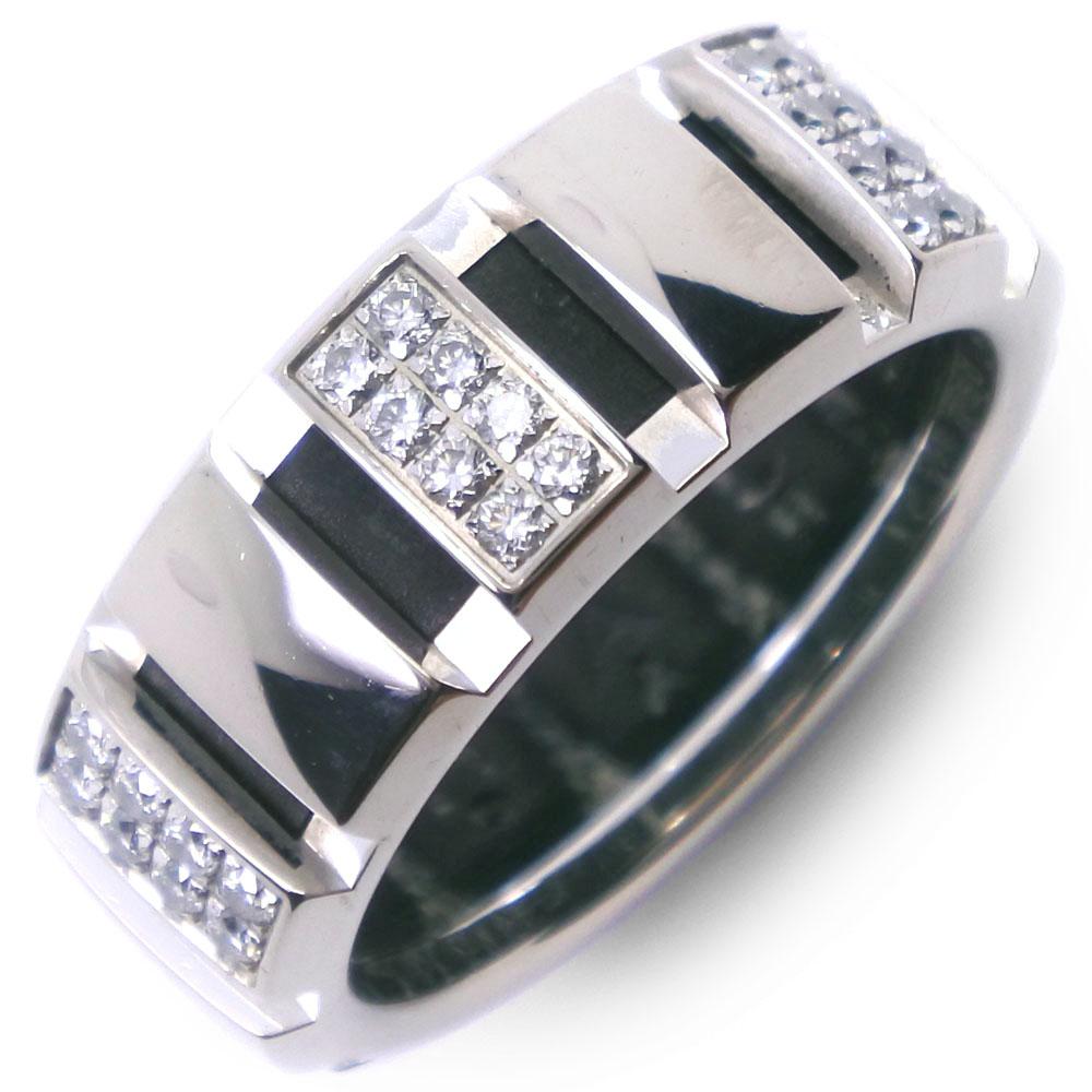 全品送料無料 リング 指輪 販売期間 限定のお得なタイムセール スーパーセール10%OFF対象 Chaumet ショーメ クラスワン K18ホワイトゴールド×ダイヤモンド ハーフダイヤ 中古 A-ランク レディース 10.5号 待望