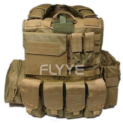 フォースリーコン ベスト FLYYE フライ CIRASベスト フルセット Ver.MAR KH カーキ サバゲー装備品 ミリタリー FY-VT-M004-KH Force Recon Vest with Pouch Set アドミンポーチ/ マガジンポーチ/ メディカルポーチ/ ユーティリティポーチ付き 1000D M/Lサイズ