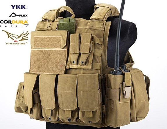フォースリーコン ベスト FLYYE フライ CIRAS ベスト フルセット Ver.MAR CB コヨテーブラウン サバゲー装備品 ミリタリー FY-VT-M004-CB Force Recon Vest with Pouch Set アドミンポーチ/ マガジンポーチ/ メディカルポーチ/ ユーティリティポーチ付き M/Lサイズ