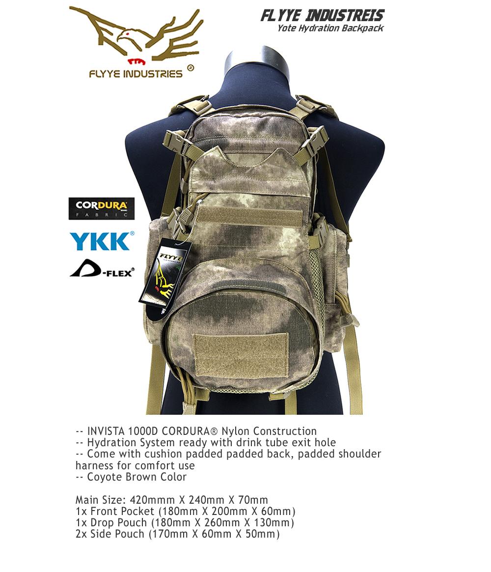 【即納】Flyye Yote Hydration Backpack A-TACS